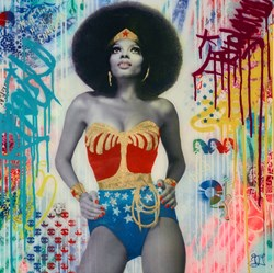 Diana Ross II by Srinjoy - Mixed Media sized 24x24 inches. Available from Whitewall Galleries